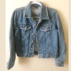 Boston Proper Denim Jacket Size 2 Regular EUC